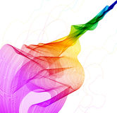Abstract colorful background with wave Stock Image