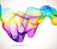 Abstract colorful background with wave Stock Photo