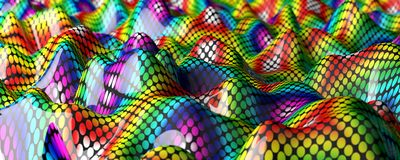 Abstract colorful background. Waves and curl pattern with vibrant colored Stock Images