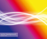 Abstract colorful background with white waves Stock Photography