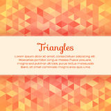 Abstract Colorful Background With Triangles Stock Photo