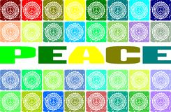 Abstract colorful background with word peace Royalty Free Stock Photo