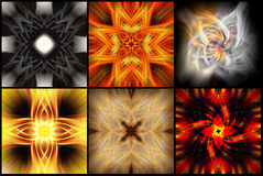 Abstract colorful backgrounds. In lovely twisted patterns Stock Images