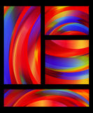 Abstract colorful backgrounds of red, yellow, blue, green, and orange shades. Collection of abstract colorful backgrounds of red, yellow, blue, green, and orange Royalty Free Stock Photos