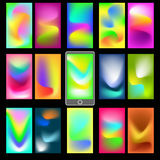Abstract colorful backgrounds. Abstract colorful templates for mobile user interfaces. Elements for your website or presentation. Set of blurred backgrounds Stock Images