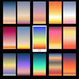 Abstract colorful backgrounds. Abstract colorful templates for mobile user interfaces. Elements for your website or presentation. Set of blurred backgrounds Royalty Free Stock Photo
