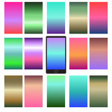 Abstract colorful backgrounds. Abstract colorful templates for mobile user interfaces. Elements for your website or presentation. Set of blurred backgrounds Royalty Free Stock Images