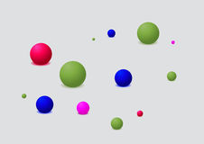 Abstract Colorful Balls Stock Photography