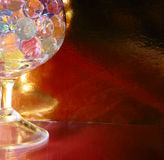 Abstract colorful balls in glass Stock Photo