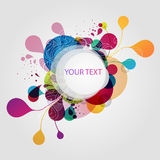 Abstract colorful banner. Colorful banner with decorative elements vector illustration