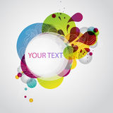 Abstract colorful banner. Colorful banner with decorative elements royalty free illustration