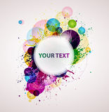 Abstract colorful banner. Colorful banner with decorative elements stock illustration
