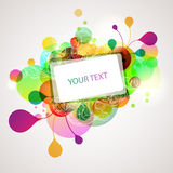 Abstract colorful banner. Colorful banner with multicolor elements vector illustration