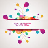 Abstract colorful banner. Colorful banner with multicolor elements royalty free illustration