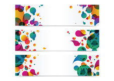 Abstract colorful banner header background. For web banner design Royalty Free Stock Image