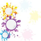 Abstract colorful banner template ink Stock Image