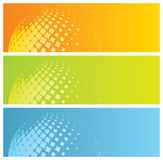 Abstract colorful banners. With mosaic globe,  illustration Stock Images