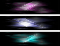Abstract colorful banners Stock Photography