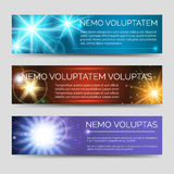 Abstract colorful banners with multicolor flashes Stock Image