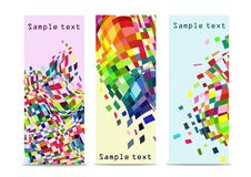 Abstract colorful banners with white background Royalty Free Stock Photos