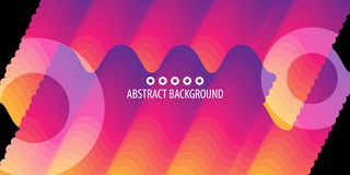 Geometric colorful abstract bars background vector teplate royalty free illustration