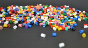 Abstract colorful beads Stock Images