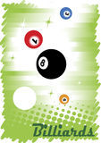 Abstract colorful billiard poster Royalty Free Stock Photo