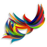 Abstract colorful bird. Flying abstract colorful bird on a light background Vector Illustration