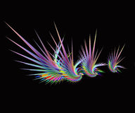 Abstract colorful birds Royalty Free Stock Images