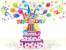 Abstract colorful birthday background Stock Images