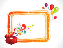 Abstract colorful birthday frame with magic box vector illustration