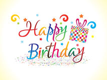 Abstract colorful  birthday text Stock Photography