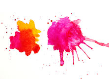 Abstract colorful blobs on white paper Royalty Free Stock Photo