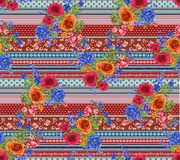 Abstract colorful block print pattern royalty free stock photos