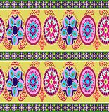 Abstract colorful block print pattern stock illustration