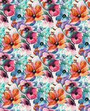 Abstract colorful block print pattern stock image