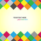 Abstract colorful blocks with place for text Royalty Free Stock Image