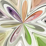 Abstract colorful bloom shape Stock Photography