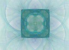Abstract colorful blue fractal pattern on white background. Fantasy fractal texture. Digital art. 3D rendering. Computer genenerat. Ed image vector illustration