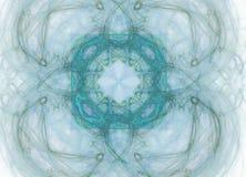 Abstract colorful blue fractal pattern on white background. Fantasy fractal texture. Digital art. 3D rendering. Computer genenerat. Ed image royalty free illustration