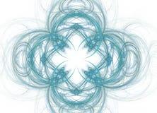 Abstract colorful blue fractal pattern on white background. Fantasy fractal texture. Digital art. 3D rendering. Computer genenerat. Ed image stock illustration