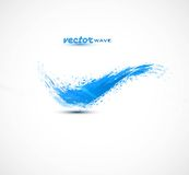 Abstract colorful blue grunge wave  Stock Images