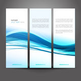 Abstract colorful blue vector waved background Stock Photo