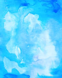 Abstract colorful blue watercolor background for web and print d Royalty Free Stock Photography