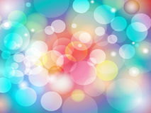 Abstract Colorful Blur Bokeh background Design Royalty Free Stock Images