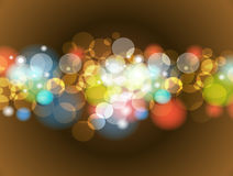 Abstract Colorful Blur Bokeh background Design stock illustration