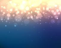 Abstract colorful blurred background with lights and bokeh Royalty Free Stock Images