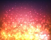Abstract colorful blurred background with lights and bokeh Royalty Free Stock Photography