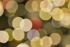 Abstract colorful Blurred Christmas illumination lights Stock Photos