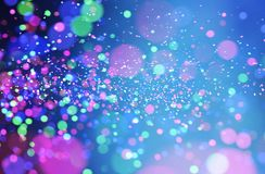 Abstract colorful blurred lights for festive background design. Such as christmas or other seasonal holidays,3d illustration stock illustration